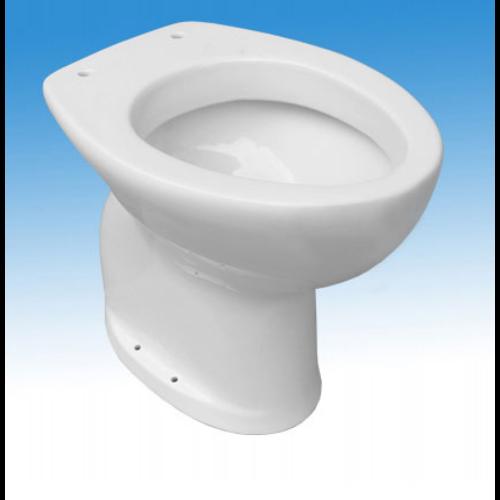Idral Porcelán WC-kagyló mozgáskorlátozott felhasználók részére, zárt, magasított, padlón álló, alsó kifolyással, kivágás nélküli