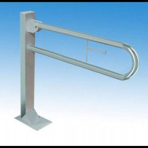 Prémium állványra szerelt felhajtható kapaszkodó papírtartóval, rozsdamentes acél, 800 mm, matt