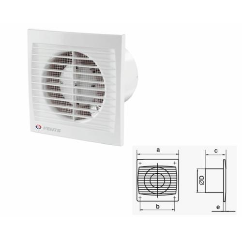 Vents Ventil 125S elszívó ventilátor 180m3/h